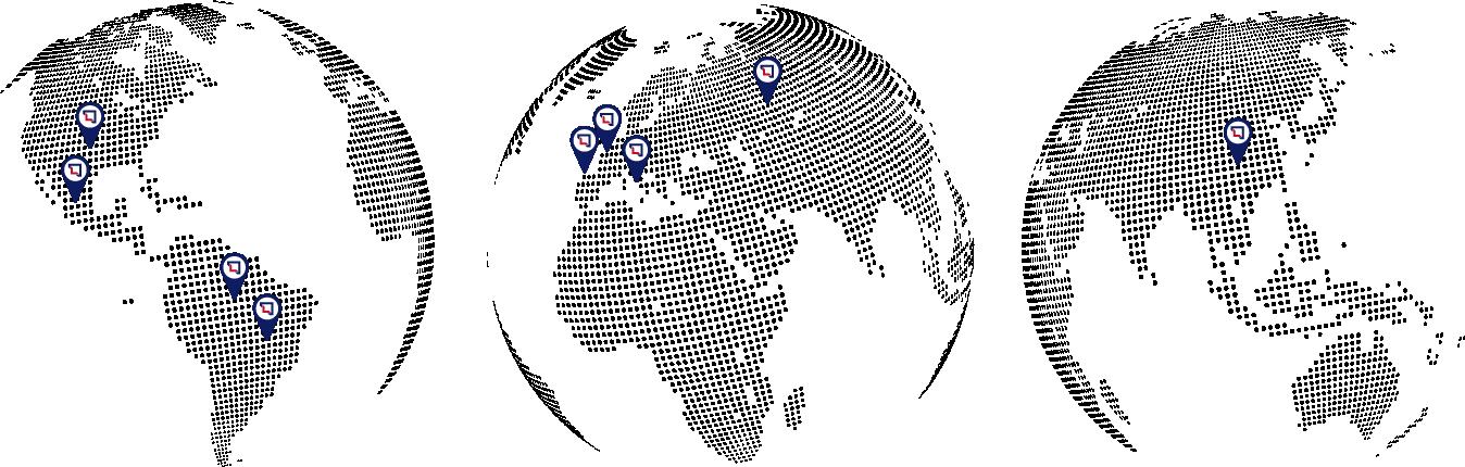 Mapa filiales